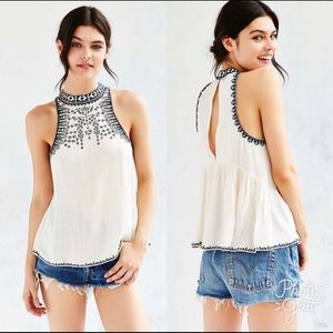 UO Ecoté embroidered tank top